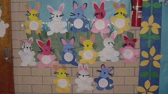 A decoração de Páscoa para escolas garante integração dos alunos quanto eles participam dos preparativos da decoração (Foto: Divulgação)