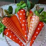 cenouras feitas com tecido