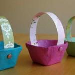 cesta de pascoa decorada com tecido