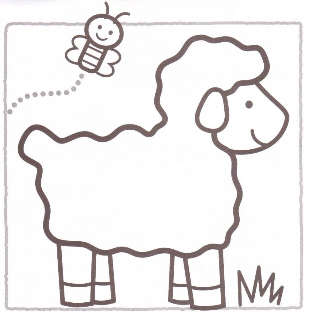 desenho de cordeiro