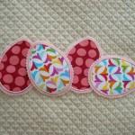 enfeites de pascoa com tecido