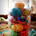ovos de pascoa de tecido