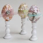 ovos decorados com tecido