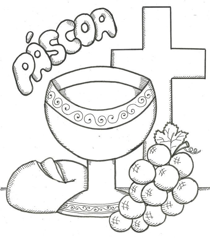 simbolo da pascoa pao e vinho (Medium)