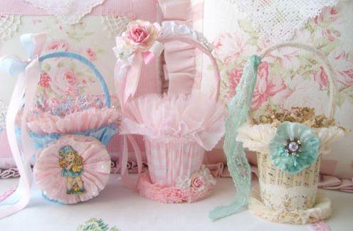 As cestas de Páscoa decoradas com EVA, tecido ou papel crepom podem ser uma ótima opção para você ganhar um dinheiro extra nesta Páscoa (Foto: Divulgação)