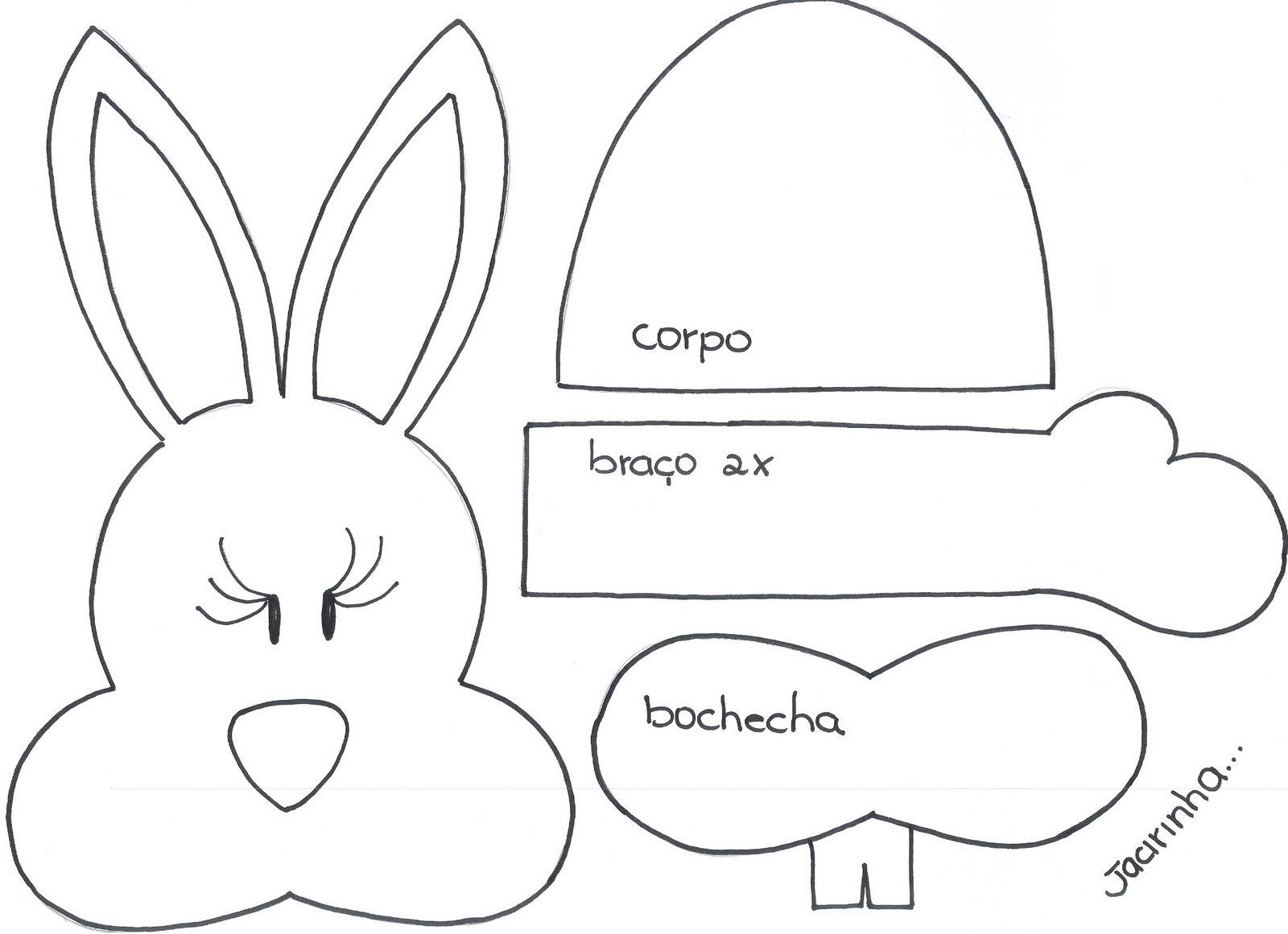 Molde porta treco coelho1