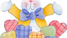 Desenhos de Páscoa para pintura em tecido