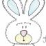 15 moldes de coelhos da Páscoa em EVA