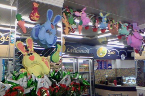 A decoração de Páscoa para lojas é essencial para atrair mais clientes neste período (Foto: Divulgação)